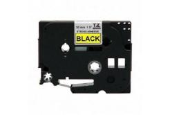 Kompatibilní páska s Brother TZ-S661/TZe-S661,36mm x 8m,extr.adh. černý tisk/žlutý podklad
