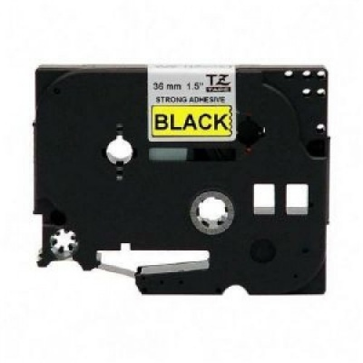 Kompatibilní páska s Brother TZ-S661/TZe-S661, 36mm x 8m,extr.adh. černý tisk/žlutý podklad