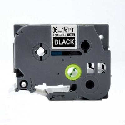 Kompatibilní páska s Brother TZ-365 / TZe-365, 36mm x 8m, bílý tisk / černý podklad