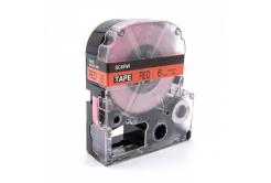 Epson LC-SC6RW, 6mm x 8m, czarny druk / czerwony podkład, taśma zamiennik