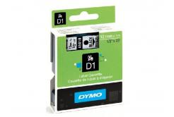 Dymo D1 45018, S0720580, 12mm x 7m, černý tisk / žlutý podklad, originální páska