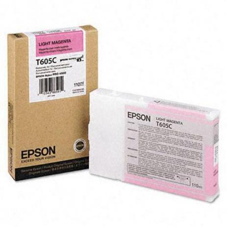 Epson T605C purpuriu deschis (light magenta) cartus original