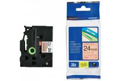 Brother TZ-B51 / TZe-B51, 24mm x 8m, černý tisk/signální oranžový podklad, originální páska
