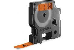 Dymo D1 1978367, 12mm x 3m, černý tisk/oranžový podklad, permanentní vinylová, originální páska