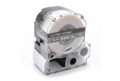Epson LC-ST36SW, 36mm x 8m, bílý tisk / průhledný podklad, kompatibilní páska