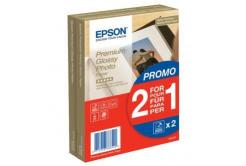 "Epson Premium Glossy Photo Paper, foto papír, lesklý, bílý, 10x15cm, 4x6"", 255 g/m2, 2x40"
