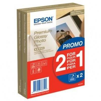 "Epson S042167 Premium Glossy Photo Paper, foto papír, lesklý, bílý, 10x15cm, 4x6"", 255 g/m2, 2x40"