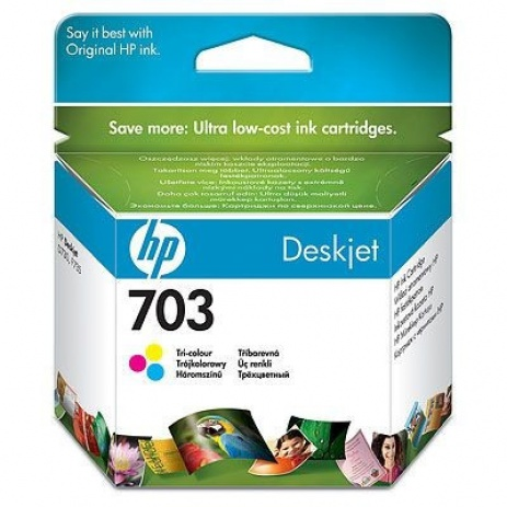 HP č.703 CD888AE farebná (color) originálna cartridge