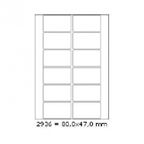 Selfadhesive labels 80 x 47 mm, 12 labels, A4, 100 sheets