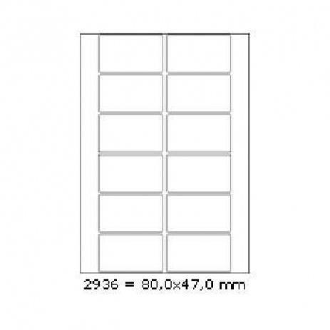Etichete autoadezive 80 x 47 mm, 12 de etichete, A4, 100 coli