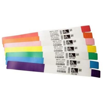 Zebra 10006995-5K Z-Band Direct, adult, náramkové pásky, růžová