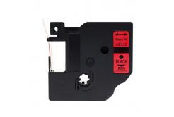 Kompatibilní páska s Dymo 40917, S0720720, 9mm x 7m ?erný tisk / ?ervený podklad