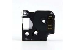 Kompatibilní páska s Dymo 40924, 9mm x 7m, zlatý tisk / černý podklad