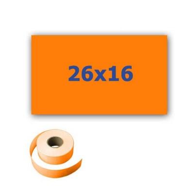 Cenové etikety do kleští, obdélníkové, 26mm x 16mm, 700ks, signální oranžové