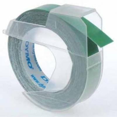 Dymo S0898160, 9mm x 3m, bílý tisk/zelený podklad, originální páska