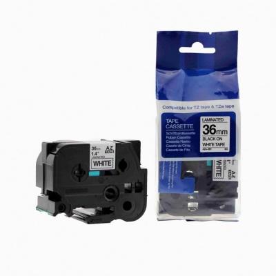 Kompatibilní páska s Brother TZ-261 / TZe-261, 36mm x 8m, černý tisk / bílý podklad
