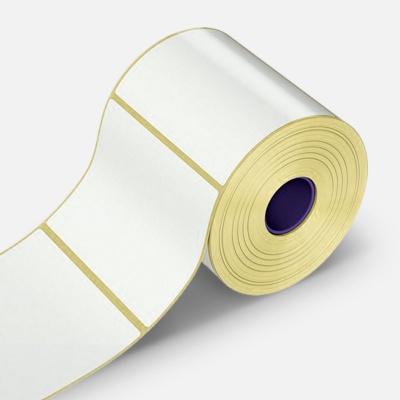 Samolepicí etikety 100x100 mm, 500 ks, papírové pro TTR, role