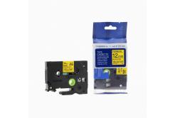 Kompatibilní páska s Brother TZ-FX631/TZe-FX631 12mm x 8m, flexi, černý tisk/žlutý podklad