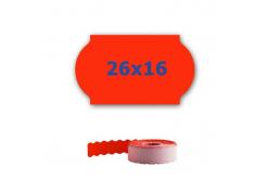 Cenové etikety do kleští, 26mm x 16mm, 700ks, signální červené