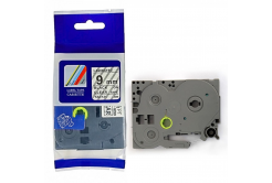 Kompatibilní páska s Brother TZ-121 / TZe-121, 9mm x 8m, černý tisk / průhledný podklad
