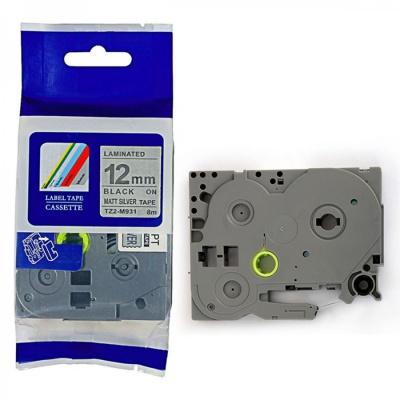 Kompatibilní páska s Brother TZ-M931 / TZe-M931, 12mm x 8m, černý tisk / stříbrný podklad