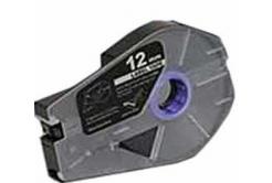 Kompatibilní samolepicí páska pro Canon / Partex M-1 Std/M-1 Pro, 12mm x 30m, kazeta, stříbrná