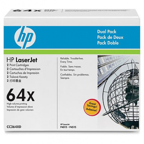 HP 64X CC364XD dvojbalení black original toner