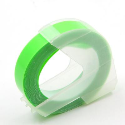 Dymo Omega, 9mm x 3m, bílý tisk / fluorescenční zelený podklad, kompatibilní páska