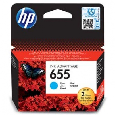 HP 655 CZ110AE azurová (cyan) originální cartridge