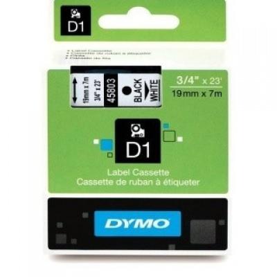 Dymo 45803, S0720830, 19mm x 7m, černý tisk / bílý podklad, originální páska