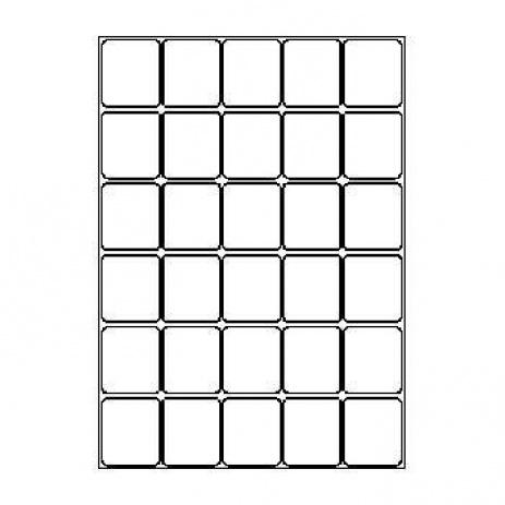 Samolepicí labels 40 x 46 mm mm, 30 etiket, A4, 100 listů