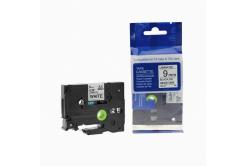 Kompatibilní páska s Brother TZ-221 / TZe-221, 9mm x 8m, černý tisk / bílý podklad