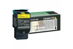Lexmark originální toner C540H1YG, yellow, 2000str., return, high capacity, Lexmark C540, X543, X544, X543, X544