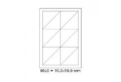 Samolepicí etikety 90 x 90 mm, 12 etiket, A4, 100 listů