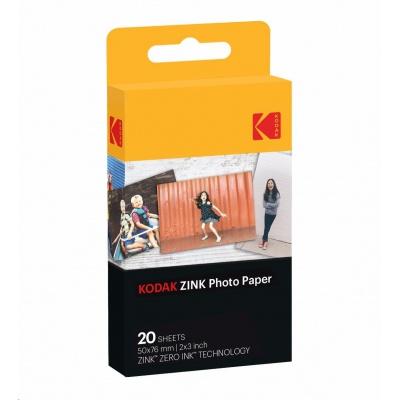 "Kodak RODZ2X320 samolepicí fotopapír ZINK 50x76 mm (2x3"") 20 listů, bílý, 290g/m2 termo"