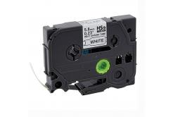 Kompatibilní páska s Brother HSe-211, 5,8mm x 1,5m, černý tisk / bílý podklad