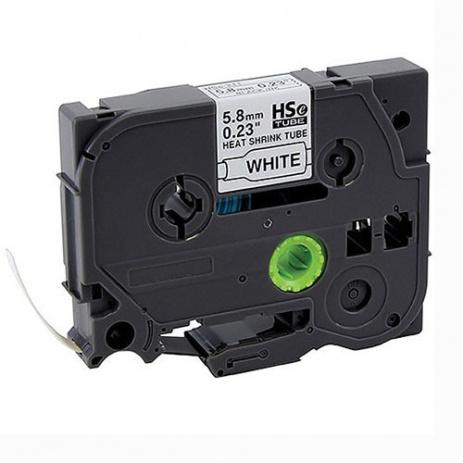Brother HSe-211 5,8mm x 1,5m, contractabila, text negru / fundal alb, tub termocontractibil, banda compatibila