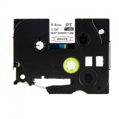 Kompatibilní páska s Brother HSe-221, 8,8mm x 1,5m, černý tisk / bílý podklad