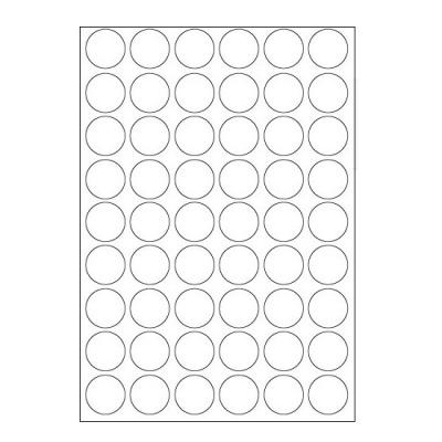 Samolepicí etikety 30 x 30 mm, 54 etiket, A4, 100 listů