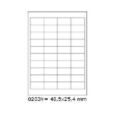 Samolepicí etikety 48,5 x 25,4 mm, 40 etiket, A4, 100 listů