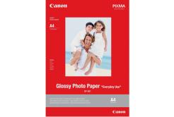 Canon Glossy Photo Paper, foto papír, lesklý, GP-501, bílý, 21x29,7cm, A4, 200 g/m2, 5 ks, 0775B076, inkoustový
