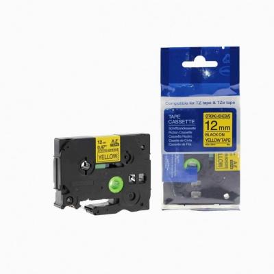 Kompatibilní páska s Brother TZ-S631/TZe-S631 12mm x 8m extr.adh. černý tisk/žlutý podklad