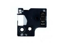 Kompatibilní páska s Dymo 40921, 9mm x 7m, bílý tisk / černý podklad