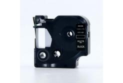 Kompatibilní páska s Dymo 45811, 19mm x 7m, bílý tisk / černý podklad