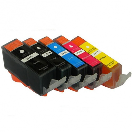 Canon CLI-526 Bk, C,M,Y + PGI-525Bk multipack compatible cartridge